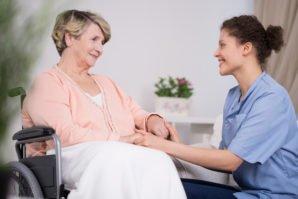 Nurse with Patient in Wheelchair - Schiffman Law Office